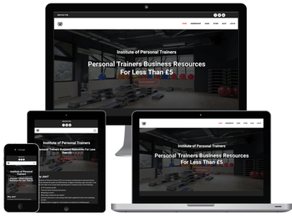 Fitness business website