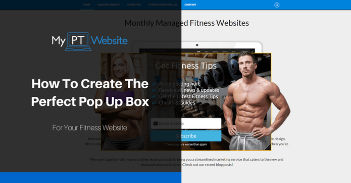 Fitness Pop Up Box
