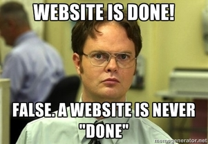 Website is never done