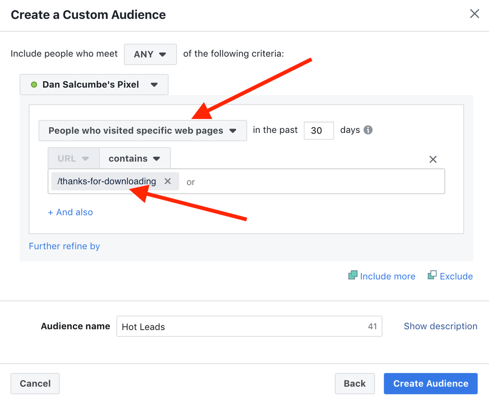 Facebook ad hot leads