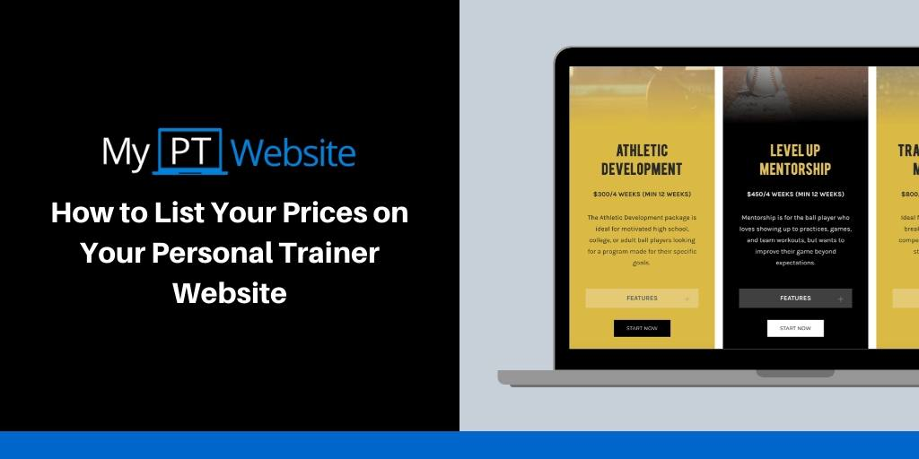 List Your Prices on Your Personal Trainer Website