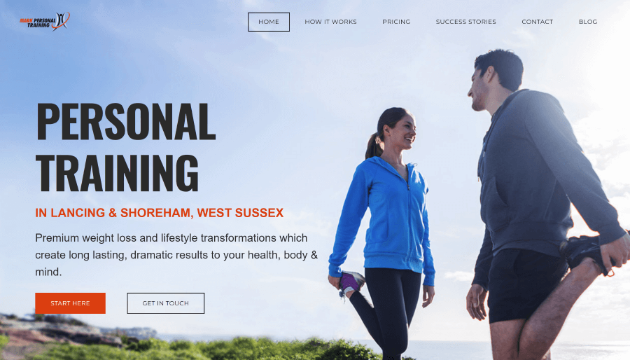 Mark Personal Training Website