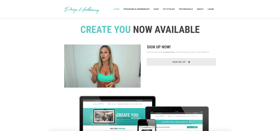 Paige Hathaway Website