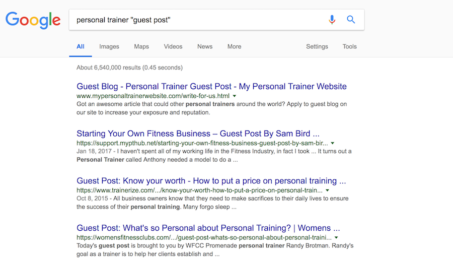 personal trainer guest post