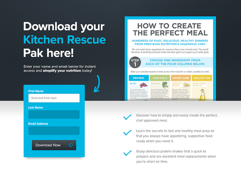 Precision Nutrition Landing Page