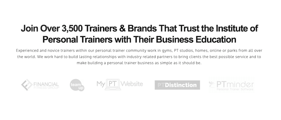 Business training personal trainers