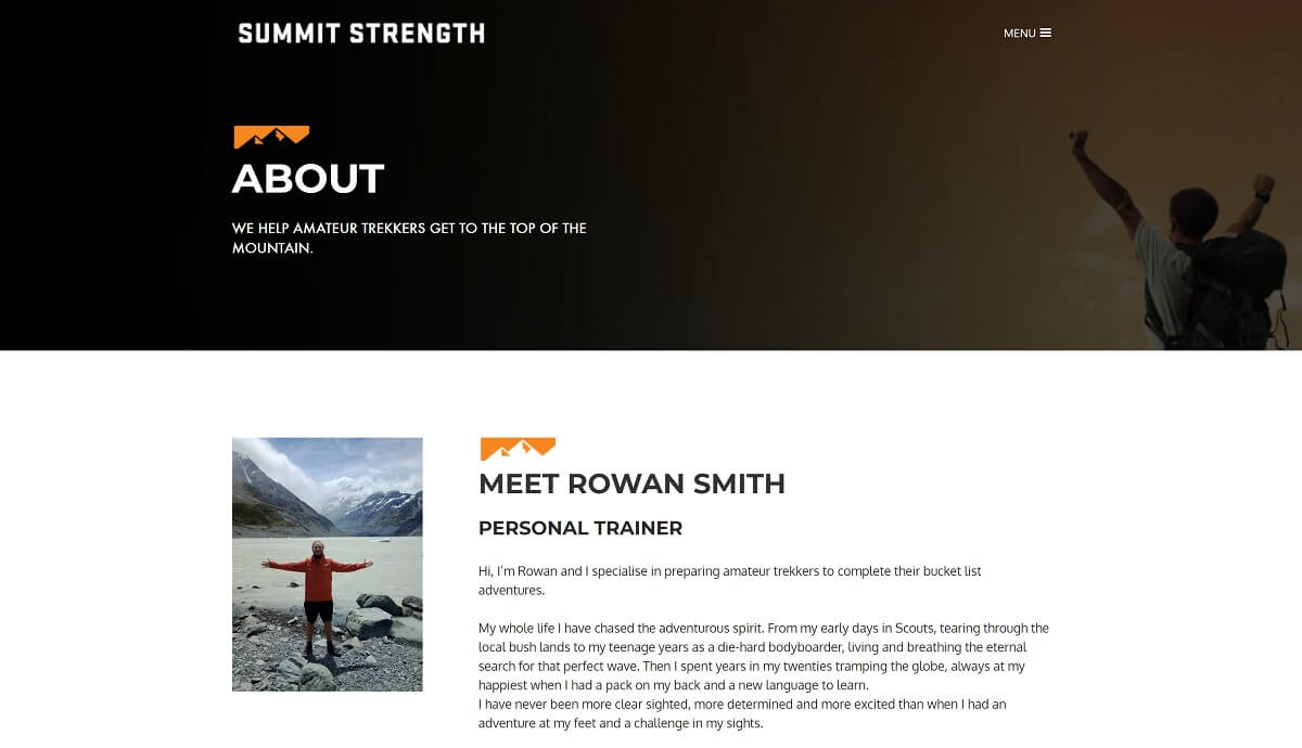 Summit Strength Website About